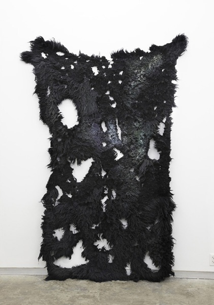 ANNA BETBEZE - Nightshade, 2011 - wool, acid dyes, watercolor, 94x60""
