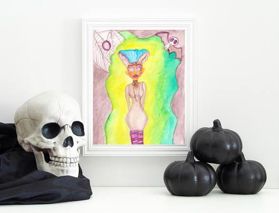Frankenstein Girl  Frankenstein Art  Creepy Cute Art