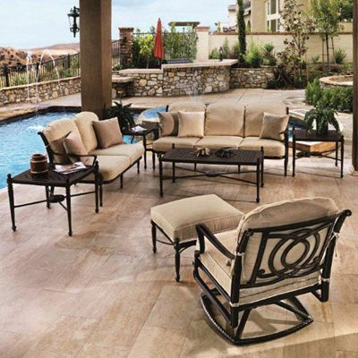 Gensun Patio Furniture | Bel Air Cushioned Deep Seating Patio Groupings    American Sale