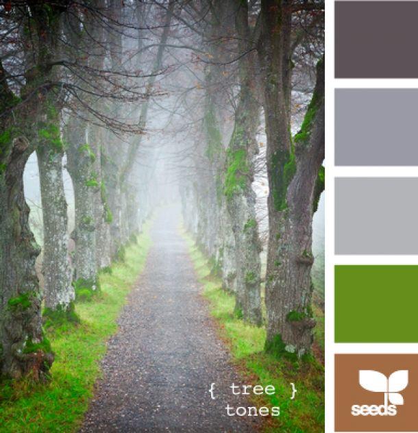 Mooi kleuren palet... grijs sprekend groen... bruin voor accenten