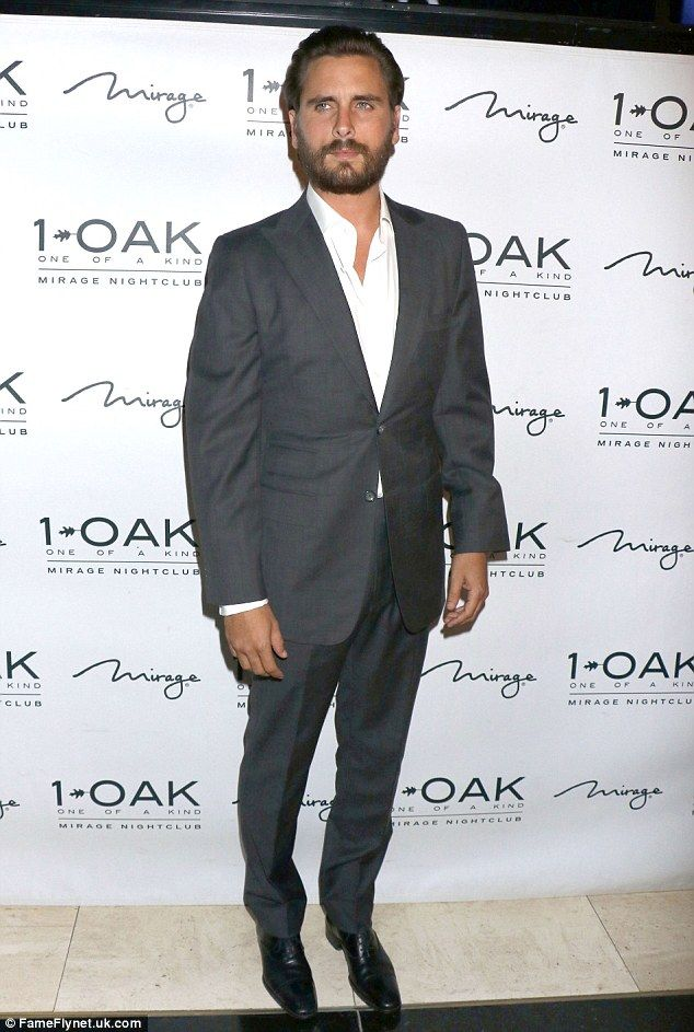 Back at it: Scott Disick made his first public appearance at 1 Oak in Las Vegas on Friday - after his split from longtime girlfriend Kourtney Kardashian