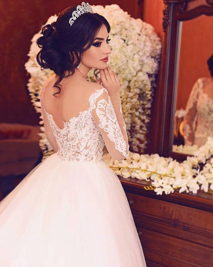Самые красивые кавказские девушки свадебной платьях