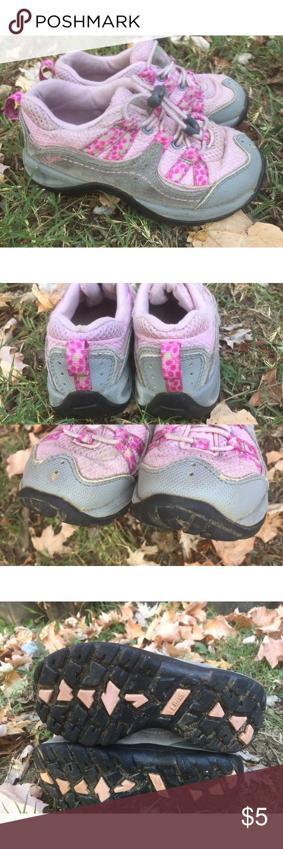 LL Bean Girls Shoes 11 Pair of LL Bean shoes, 11. Shoes show wear and dirt on soles. Play condition with lots of life left. Smoke free home. Thanks! LL Bean Shoes Sneakers