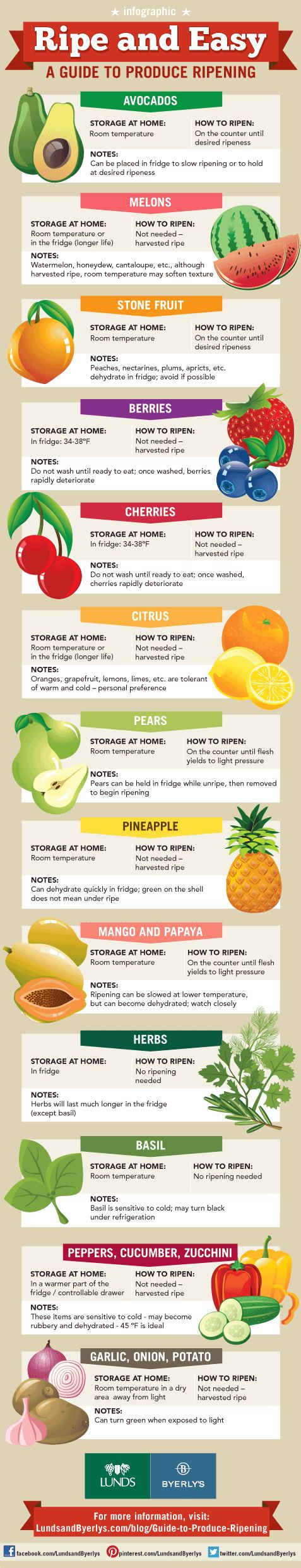 "HEALTHY FOOD - ""Howto store and speed up the ripening of fruit. #infographic #tips #cooking""."