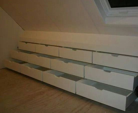 A great way to find space in the attic.