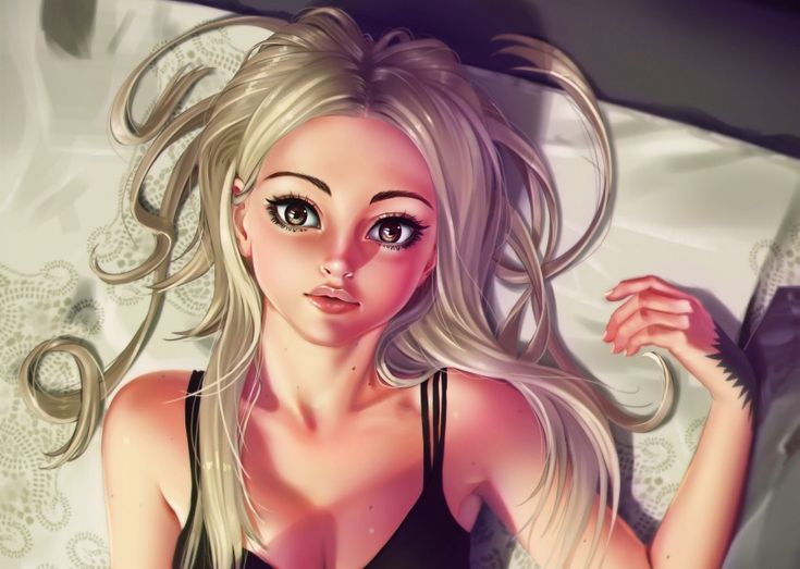 Anime Art Beautiful Blonde Girl 3K Wallpapers and Free Stock Photos - Visual Cocaine -Image category:Anime.