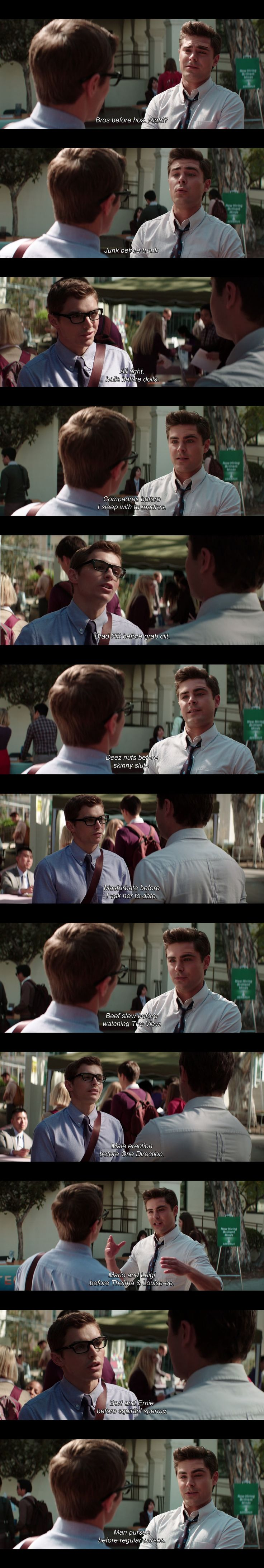 Zac Efron and Dave Franco in Neighbors glasses actually suit Davey there cute and a little sexy