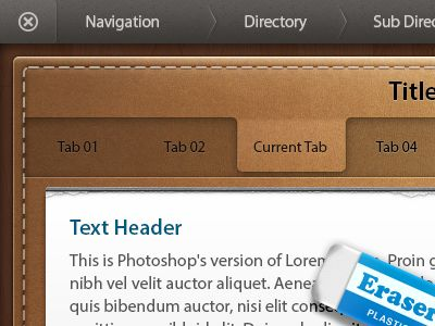 Dribbble - Leather