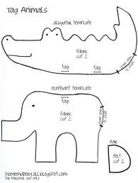 soft toy animal templates