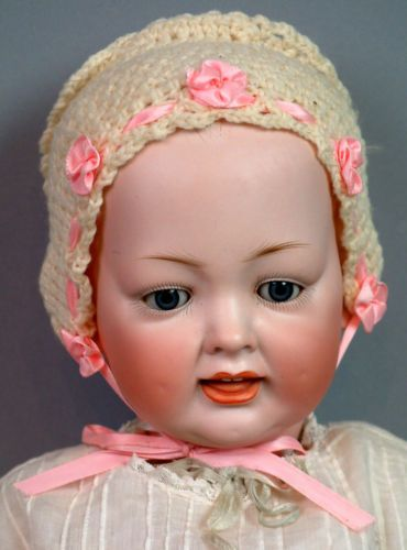 "21"" RARE Kley Hahn 158 Character Baby in Antique Dress Great Condition $1NR 