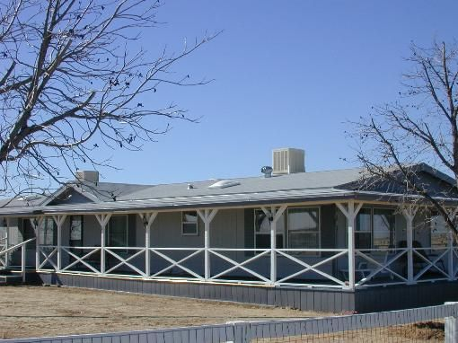 298 best mobile home porches images on pinterest for Mobile home with wrap around porch