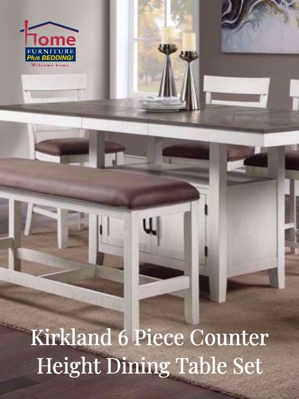 Kirkland 7 Piece Counter Height Dining Table Set White Counter Height Dining Table Set Counter Height Dining Table Rectangular Dining Room Table
