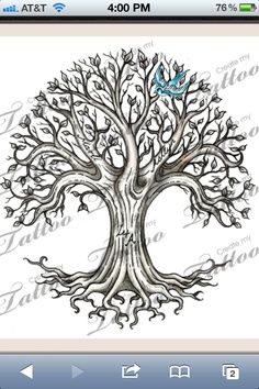 tree of life with flowers thigh tattoo - Google Search