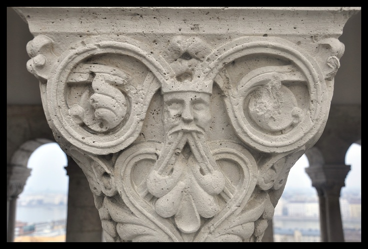 Decorative columns of the Fisherman's Bastion (Halászbástya) in Budapest. Photo by Krzysztof Borkowski