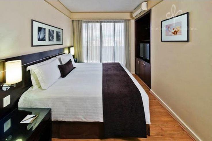 Acomodações de 1 ou 2 dormitórios com varanda, equipados com TV LCD 32'', ferro e tábua de passar roupas, secador de cabelo, jarra elétrica, mini refrigerador, microondas além de louças e talheres.