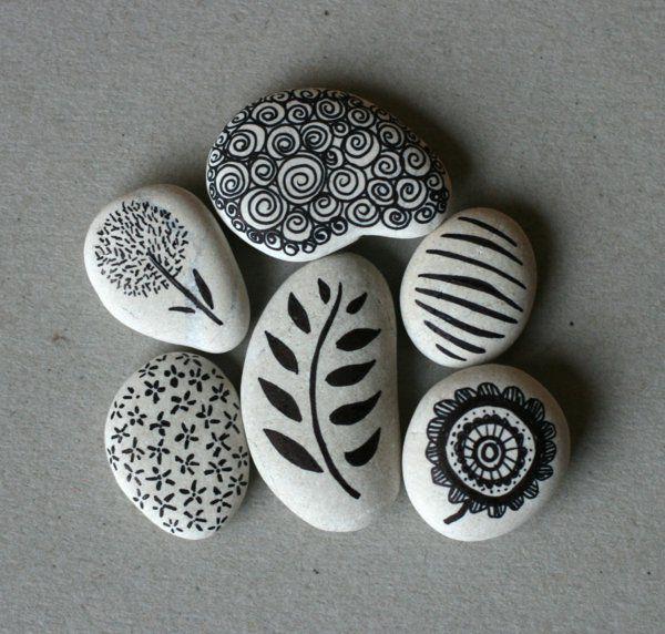 40 Ideen für Steine bemalen - Dekoration für Zuhause oder nur zum Spaß!