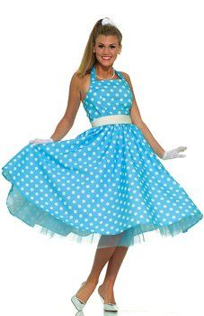 50's Summer Daze Polka Dot Dress - 50's Sock Hop Costumes - Candy Apple Costumes