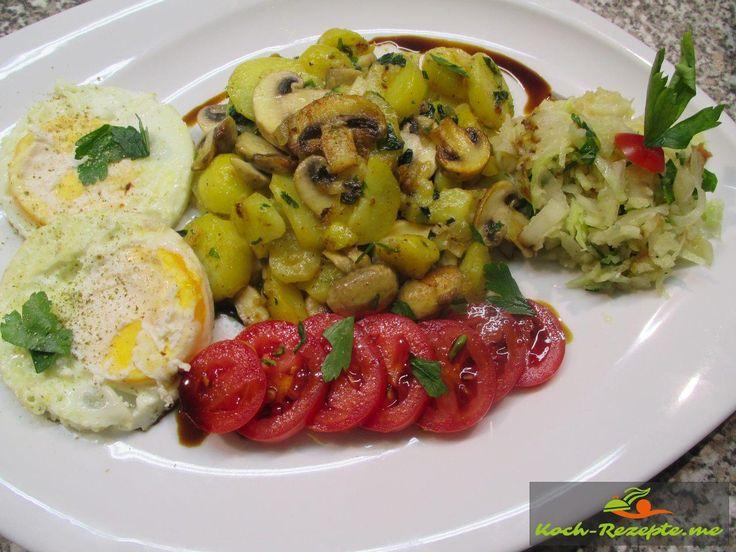 Champignon-Bratkartoffeln
