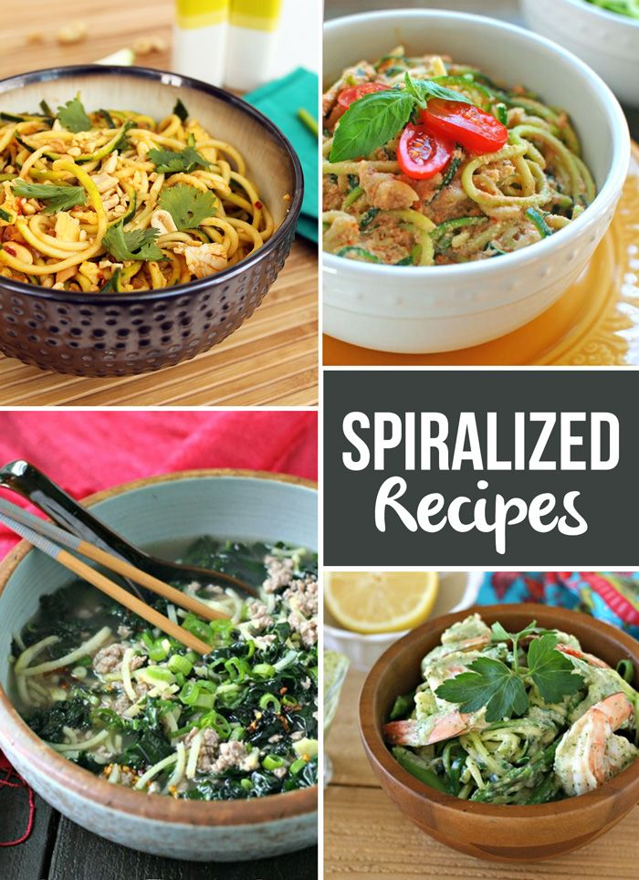 Spiralized Recipe Round Up via FitFoodiefinds.com