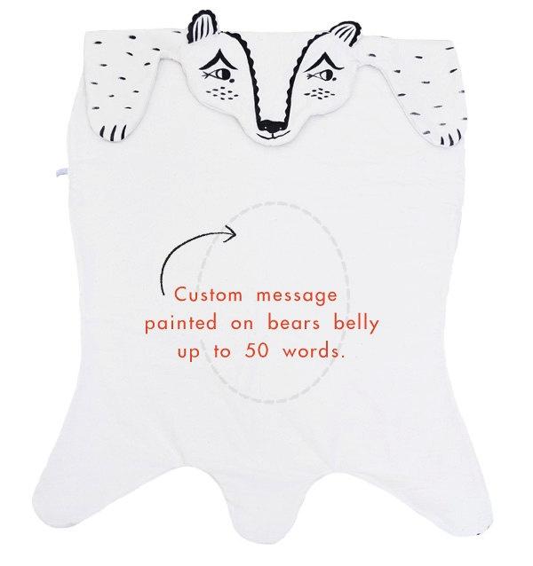 Heirloom Bear Blanket. $125.00, via Etsy.