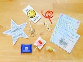 Materialwiese: Abschiedsgeschenke in der Grundschule - Neue-Schule-Erste-Hilfe-Notfall-Tüten