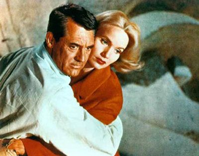 North by Northwest. Cary Grant and Eva Marie Saint.
