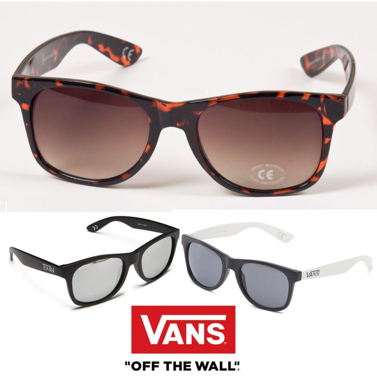 Vans Mens Sunglasses Clasic Shades Black Tortoise White Glasses Old Skool New