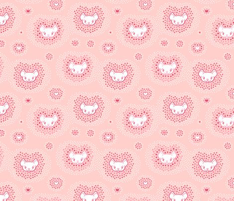 Dots meet Mouse fabric by nossisel on Spoonflower - custom fabric