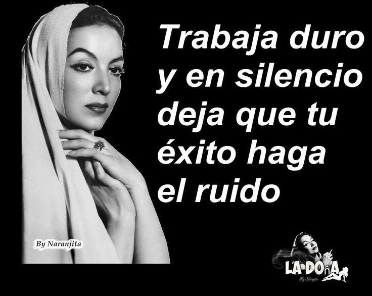 Así debe ser.#viento del alma #María Félix una mujer original#