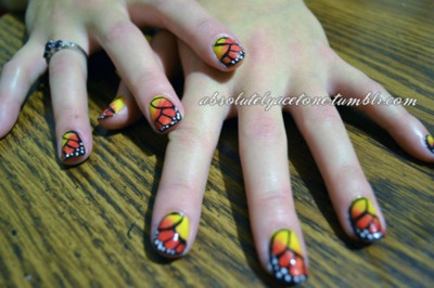 Monarch: Nails Art, Art Creative, Nailart, Nails Design, Butterflies Nails, Design Art, Friends Nails, Creative Nails, Fingers Nails