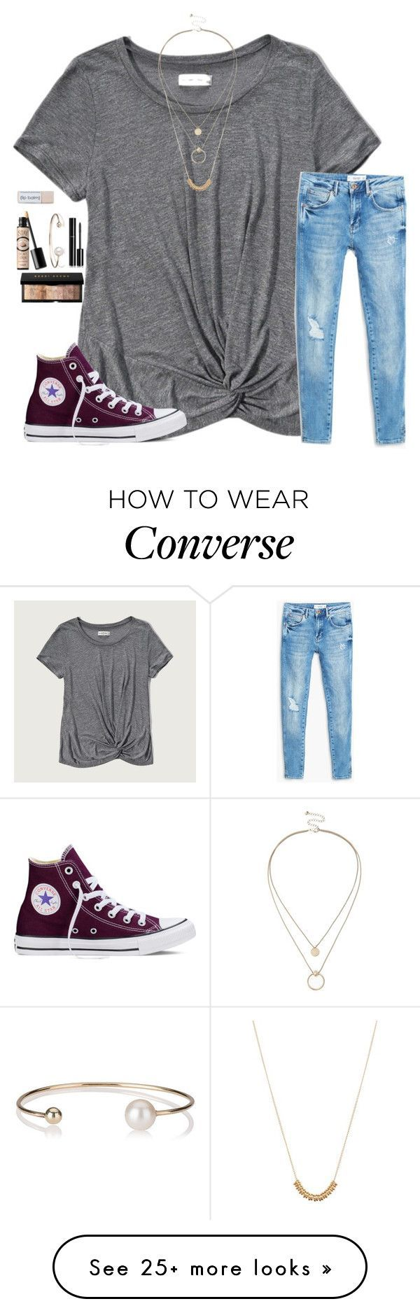 """And now I just sit in silence."" by madison426 on Polyvore featuring Abercrombie & Fitch, Converse, MANGO, ASOS, Sole Society, Chanel, Letters By Zoe, Benefit and Bobbi Brown Cosmetics"