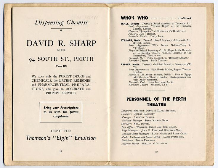 Old cast  In Perth Theatre Scotland 2