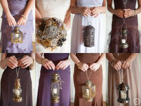 bridesmaids carrying lanterns - Google Search