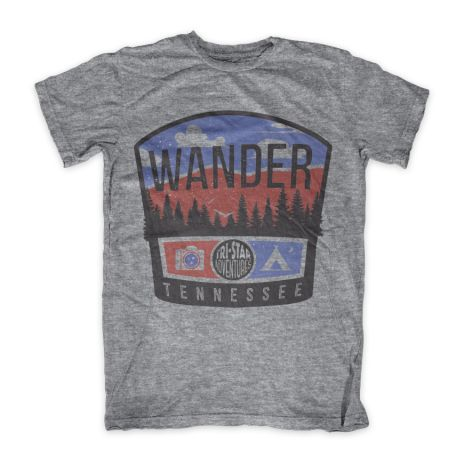 """Wanderer Tennessee"" Never Let Your Mind Tell Your Heart Not To Wander This short sleeve Wanderer Vintage Tennessee T-Shirt is perfect for those hiking and camping trips. This design combines Instagra"