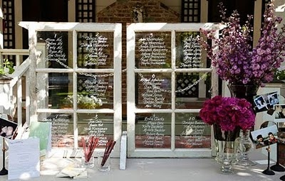 Signs - window frames with writing