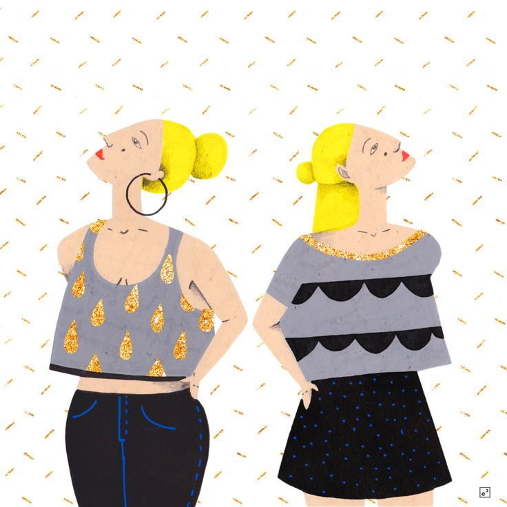illustration women / blond hair / drawing / Posca/  Copyright © ELISE ENJALBERT / illustrator / graphic designer /