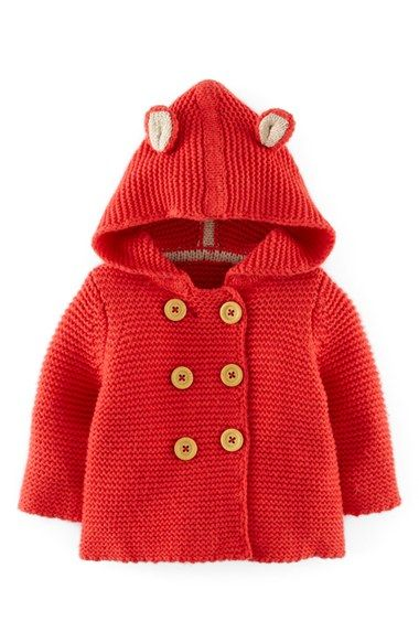 Free shipping and returns on Mini Boden Knit Jacket (Baby Girls) at Nordstrom.com. Mouse ears bring playful charm to a hooded knit jacket with double-breasted button closure.