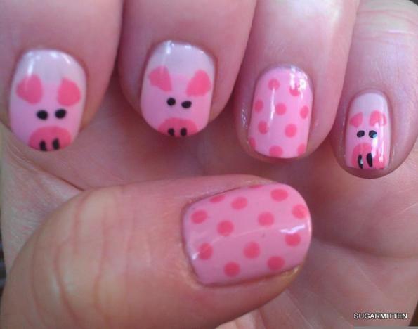 @Andrea / FICTILIS Burns Stier  I painted these piggies for Julia andMegan