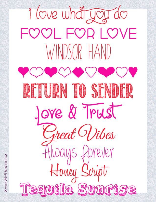 In The Spirit Of Valentineu0027s Day Here Are My Favorite FREE Fonts For  February 2014.
