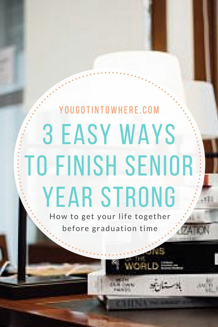 Three tips seniors can use to finish the second semester strong. #senioryear #academics #Classof2017