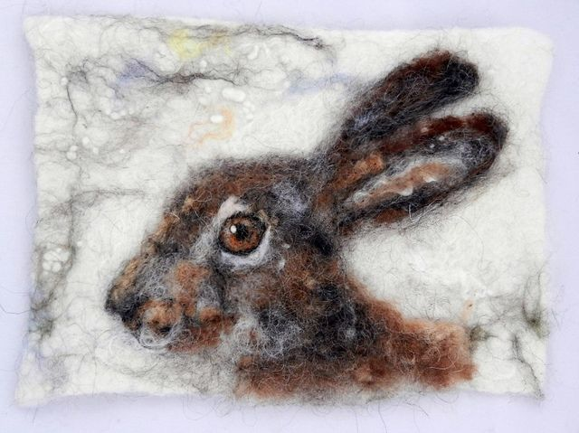 Felted hare portrait | Flickr - Photo Sharing!