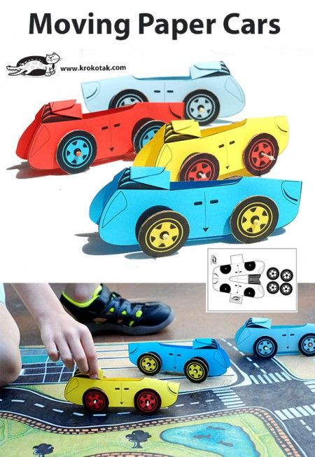 Moving Paper Cars