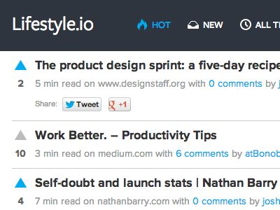 Lifestyle.io news feed by Josh Smith