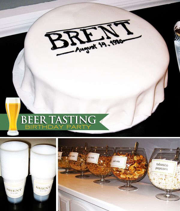 Beer Tasting Birthday Party--love this!: Beer Tasting Parties, Beer Tasting Birthday, Birthday Parties, Party Theme, Party Ideas, Modern Beer, 30Th Birthday, Birthday Party, Birthday Ideas