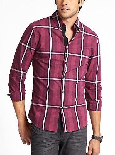 Davis Long-Sleeve Smart Slim-Fit Shirt | GUESS.com