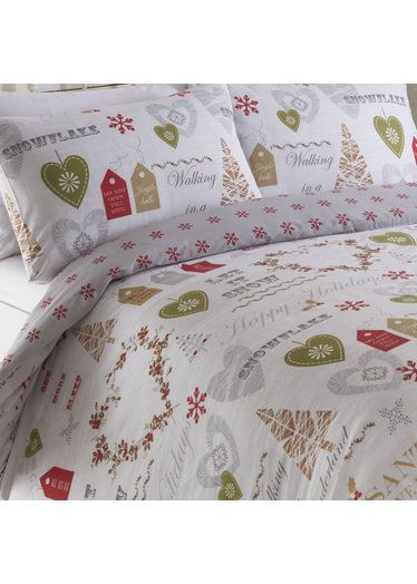 Simply Christmas Super King Size Duvet - Natural