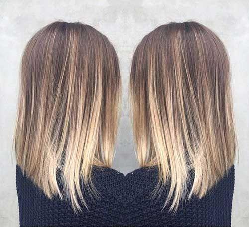 10.Long Bob Ombre Hair Color