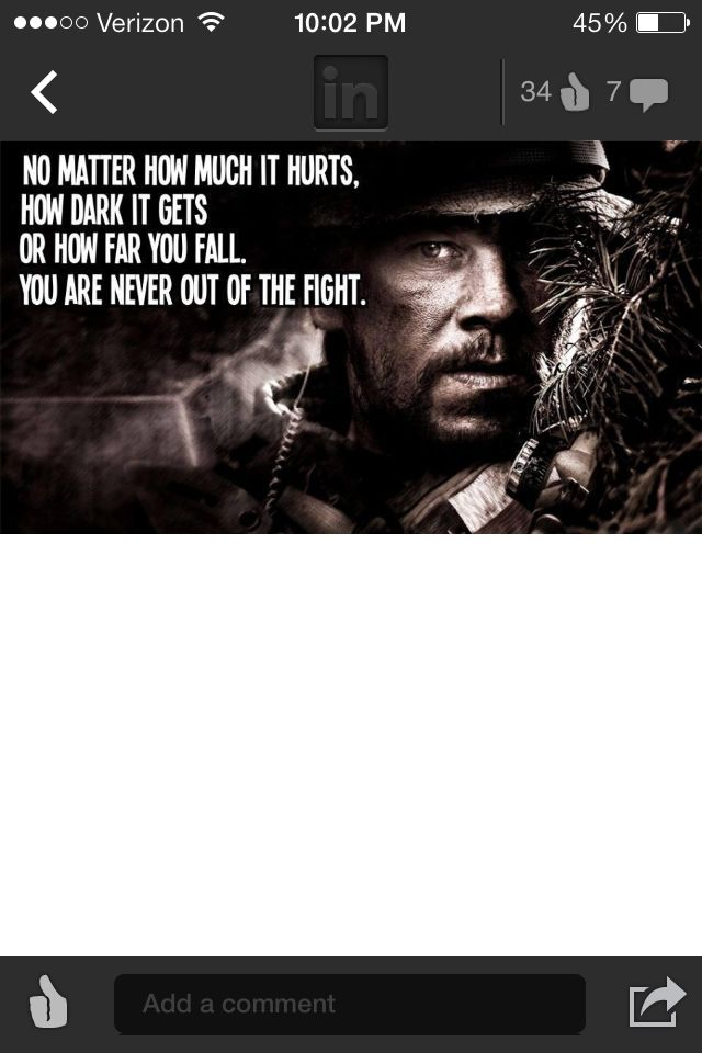 Lone Survivor could be a good quote for a tattoo