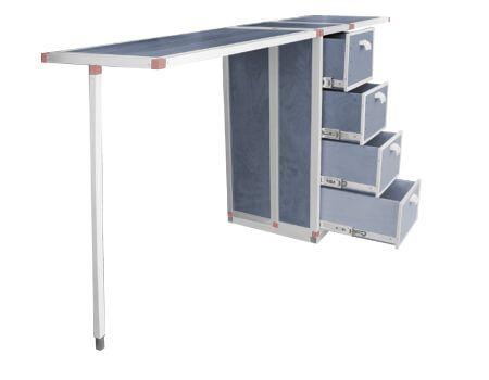 Fahrzeugausbau Tisch zum ausklappen mit Schubladen