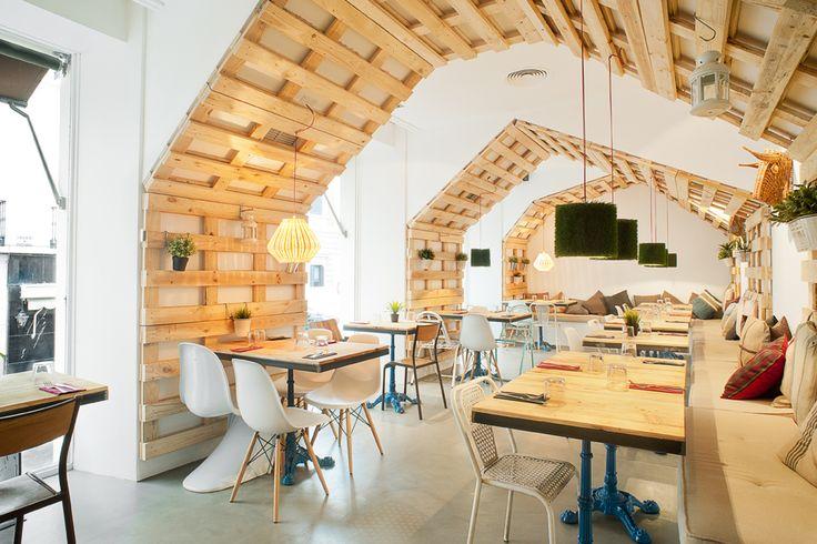 Palets en el techo ideas para decorar pinterest - Decoracion con palets ...